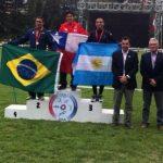 Esteban Bustos se coronó campeón sudamericano de Pentatlón Moderno