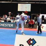 Camilo Pérez alcanzó la segunda ronda del Grand Prix de Taekwondo
