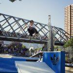 Más de mil personas presenciaron la demostración de skate del team Adidas Global Pro