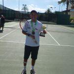 Enzo Amadei disputó finales en primer torneo internacional de Tenis Adaptado de Pie