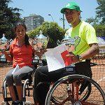 Wladimir Rodas y Macarena Cabrillana ganaron la Copa Chile de tenis en silla de ruedas
