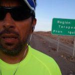 Matías Anguita arribó a Iquique en los primeros días del desafío Corre por Chile