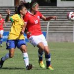 Chile cayó ante Brasil en el comienzo del Sudamericano Sub-20 de Fútbol Femenino