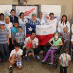 Deportistas nacionales visitaron la Unidad Oncológica del Hospital San Borja Arriarán