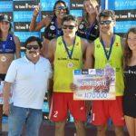 Los primos Grimalt ganaron la cuarta fecha de la Liga Nacional de Volleyball Arena