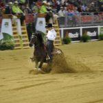 Potro Santa Isabel Batral compitió este martes en los Juegos Mundiales Ecuestres