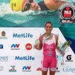 Valentina Carvallo se quedó con el segundo lugar del Ironman 70.3 de Cozumel