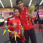 Paula Silva y Víctor Contreras entregan medallas para la esgrima en el Festival Deportivo Panamericano