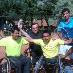 Fernando González dirigió la práctica de la Selección Chilena de Tenis en Silla de Ruedas