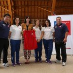 """Ministra del Deporte se reunió con las """"Marcianitas"""" y su equipo técnico en el Estadio Nacional"""