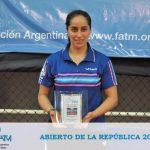 Paulina Vega se quedó con el título del Abierto de la República en Argentina