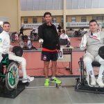 Angelo Vidal se alista para el Sudamericano de Esgrima Paralímpica