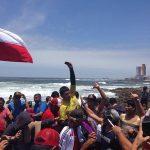 Yoshua Toledo se coronó campeón mundial junior de bodyboard en Playa Cavancha
