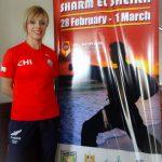Carol de la Paz logra el quinto lugar en Kata por fecha egipcia del Karate1 Premier League