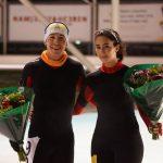 Claudio Sandoval y Viviana Rodríguez ganaron sus categorías en el Maratón de Breda de Patinaje de Velocidad sobre Hielo