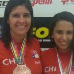 Ángela Grisar y Carla Muñoz van por la semifinal de dobles en el Panamericano de Racquetball