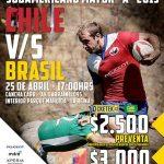 Chile juega este sábado ante Brasil por el Sudamericano Mayor A de Rugby