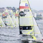 Equipo Grez debutó en el lugar 14 de la Copa del Mundo de Vela en Francia