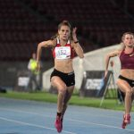Isidora Jiménez se quedó con los 100 metros planos en el Grand Prix de Santiago