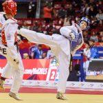 Patricia Figueroa y Jean Carlos Segura participaron en la tercera jornada del Mundial de Taekwondo