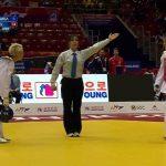 Francisca Ríos y Mario Becerra participaron en la segunda jornada del Mundial de Taekwondo