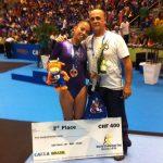 Gimnasta Franchesca Santi obtuvo medalla de bronce en World Challenge de Brasil