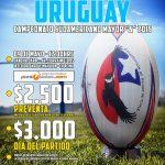 Chile se enfrenta este sábado a Uruguay por el Sudamericano Mayor A de Rugby