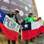 Cristián Merello y Ramón Navarro se subieron al podio del Quiksilver Ceremonial Punta de Lobos