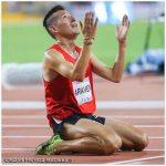Víctor Aravena gana medalla de bronce en los 5000 metros planos en Toronto