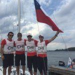 Tripulación del J-24 entrega una nueva medalla de bronce para el Team Chile