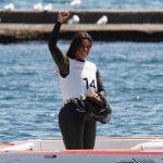Fernanda Naser gana medalla de bronce en la prueba de salto del esquí náutico panamericano