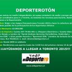 Ayúdanos a llegar a los Juegos Panamericanos Toronto 2015