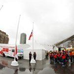 """Delegación chilena tuvo recepción oficial en Toronto 2015 con la """"Ceremonia de las Banderas"""""""