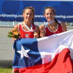 Antonia y Melita Abraham logran medalla de plata en el Mundial Junior de Remo