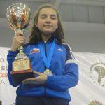 Valentina Ríos se coronó campeona sudamericana sub 13 de Tenis de Mesa