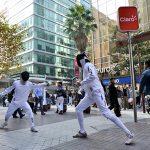 Santiago entra en la órbita del #Fencingmob 2015