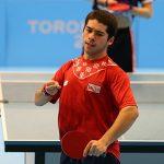 Matías Pino avanzó a semifinales del Open Rumania de Tenis de Mesa Paralímpico