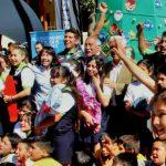 Patricio Cabrera celebró la navidad con 100 niños de Quinta Normal