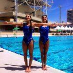 Kelley Kobler y Natalie Lubascher debutaron en el Preolímpico de Nado Sincronizado