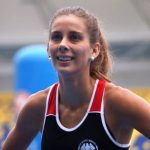 Isidora Jiménez brilló en reinauguración de pista atlética del Ester Roa Rebolledo