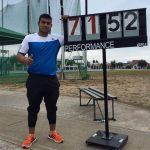 Humberto Mansilla logra nuevo récord nacional y sudamericano sub 23 de lanzamiento de martillo