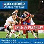 Chile enfrenta este sábado a Paraguay por el Sudamericano Mayor A de Rugby