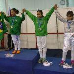 Constanza Manzo gana medalla de bronce en el Sudamericano Menores de Esgrima