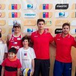 Chile ganó todos sus partidos en la primera jornada de la Continental Cup de Volleyball Playa