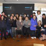 Equipo Grez llegó a Chile y visitó colegio de la comuna de San Joaquín