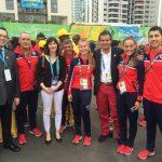Team Chile participó de la Ceremonia de las Banderas en la Villa Olímpica