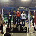 Francisca Rios ganó medalla de oro en el Open Costa Rica de taekwondo