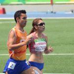 Paula Guzmán ocupó el décimo lugar de los 1500 metros clase T11 en Río 2016