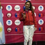 Arantza Inostroza sumó el cuarto oro para Chile en el Sudamericano Menores de Esgrima