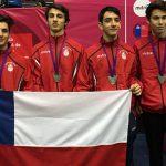 Equipo de florete masculino logra medalla de plata en el Sudamericano Menores de Esgrima